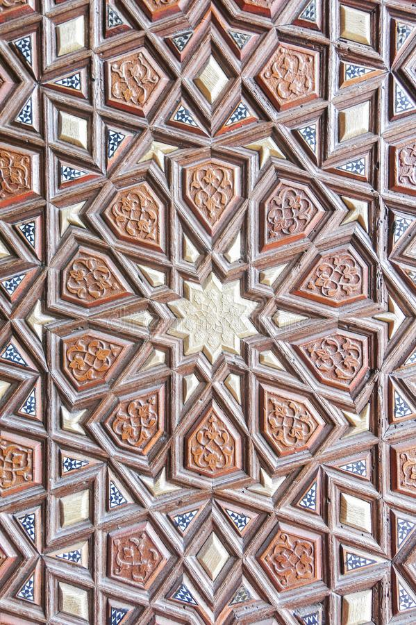 Door detail of Suleymaniye Mosque, Istanbul, Turkey royalty free stock images