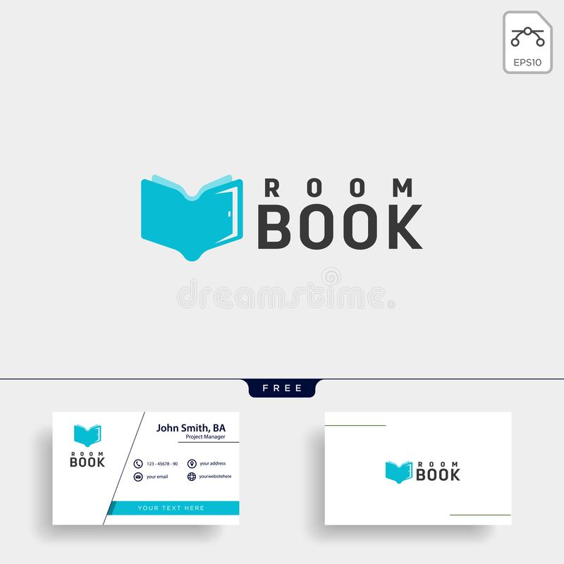 Door education book library logo template vector illustration icon element. Vector file royalty free stock photo