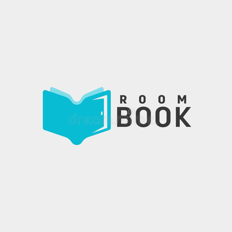 Door education book library logo template vector illustration icon element. Vector file royalty free stock images