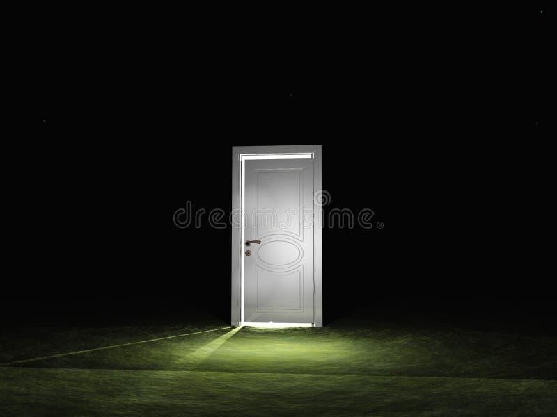 Door emits light vector illustration