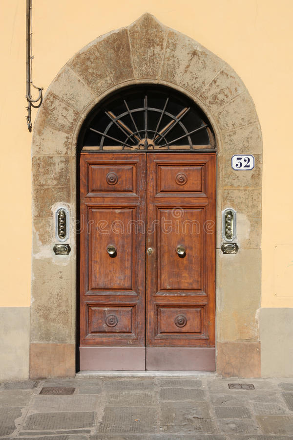 Door in Florence stock photography