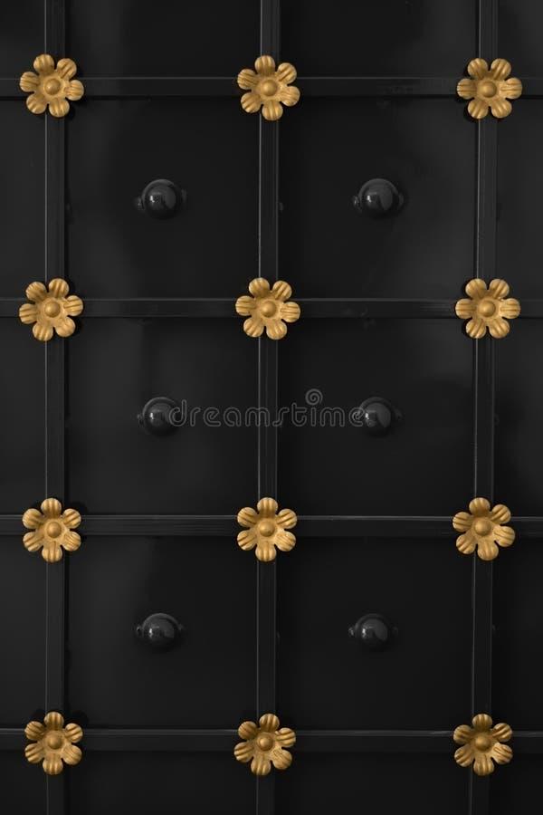 Door with flower design stock photography