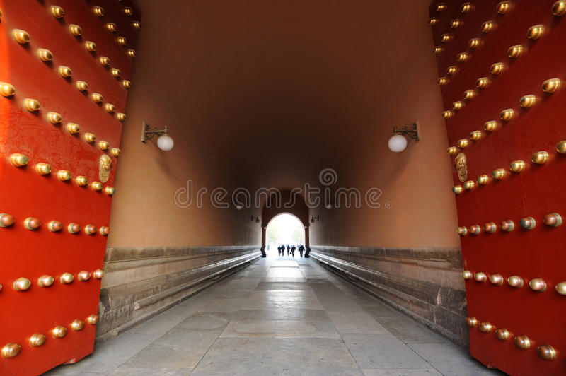 Door of The Forbidden City (Gu Gong) royalty free stock photos