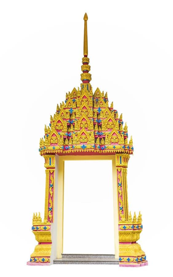 Door frame thai art style stock photo. Image of border - 31339760