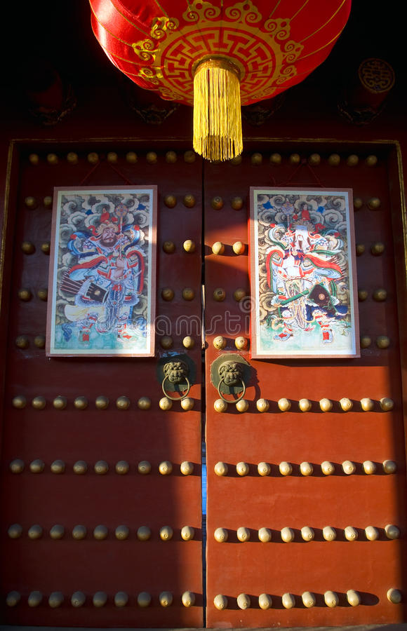 Download Door-god stock image. Image of dragon, brass, door, cultural - 13126781