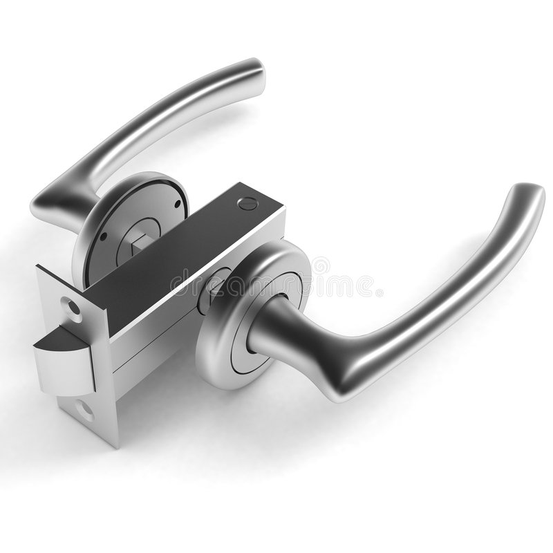 Download Door Handle stock illustration. Illustration of accessory - 2411869