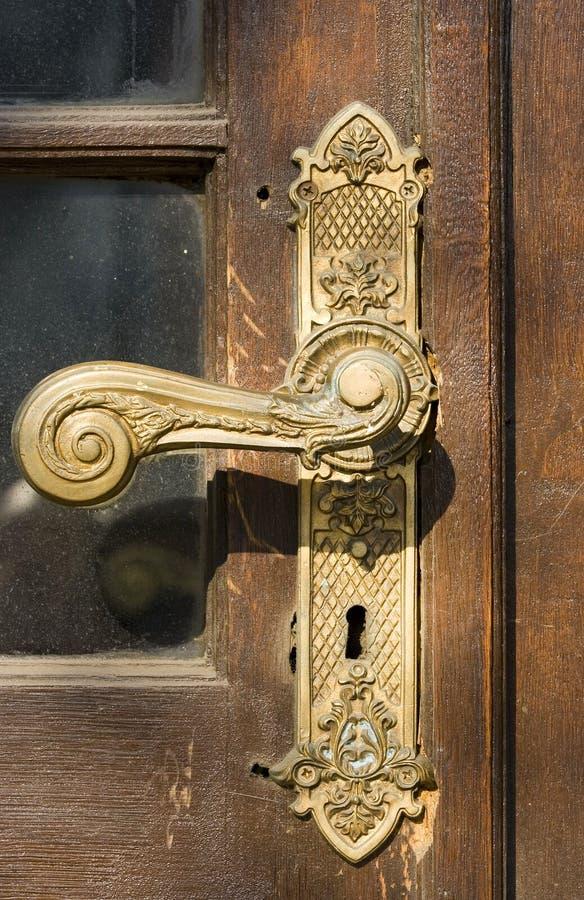 Download Door handle stock image. Image of open, bronze, security - 4192995