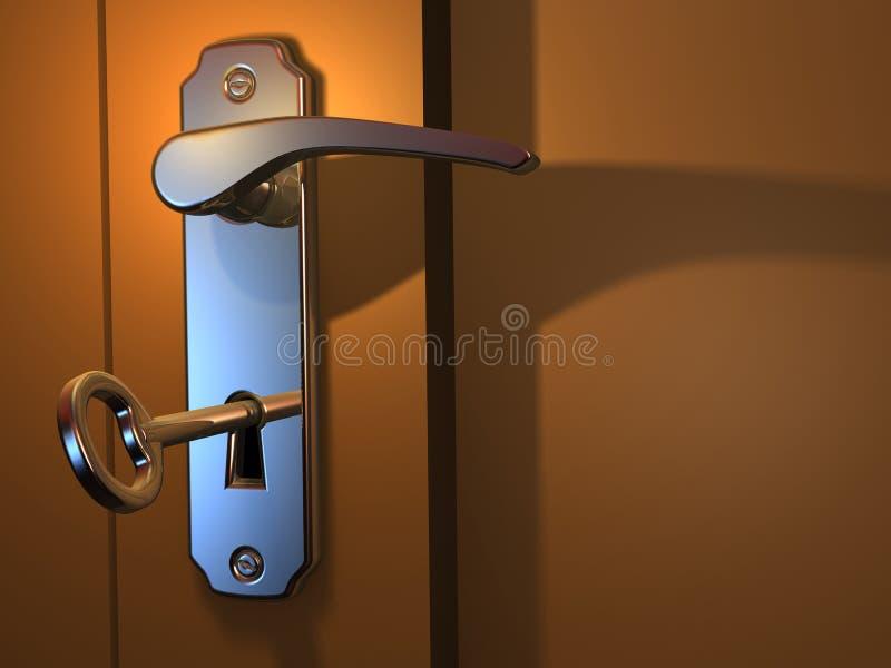 Door handle stock illustration