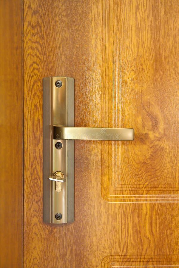 Door handle with copper door knob royalty free stock photos