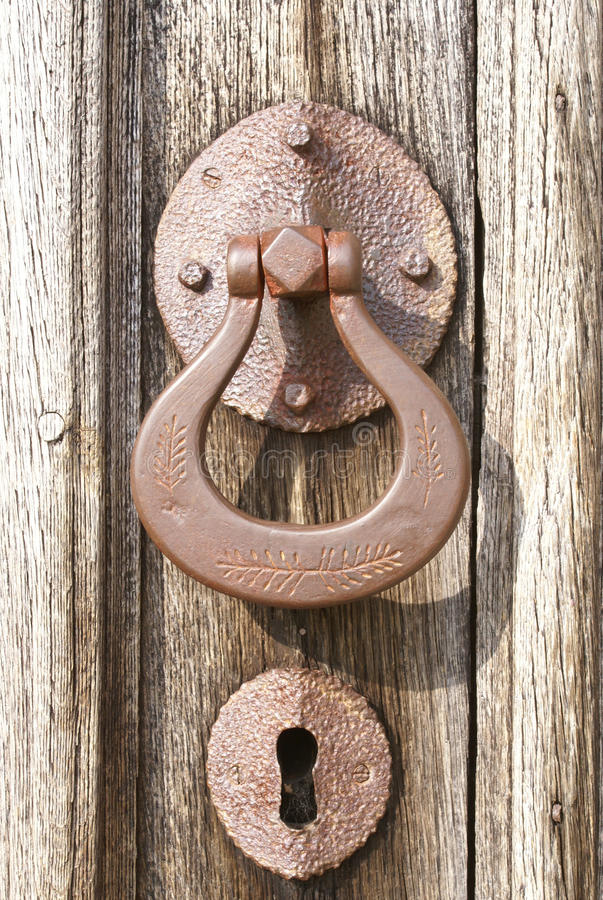 Download Door handle and keyhole stock image. Image of entrance - 16628073
