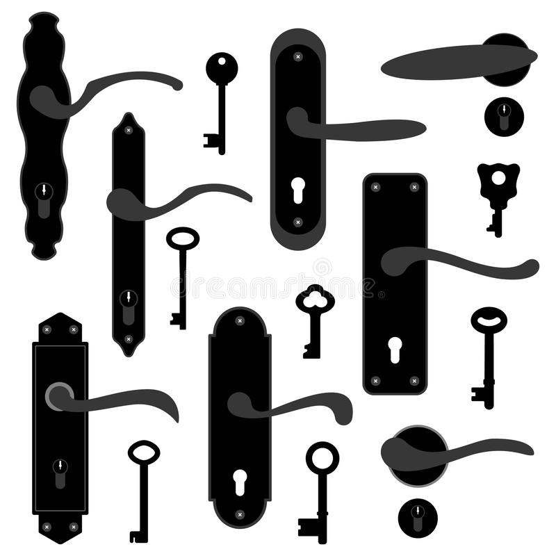 Download Door Handle Knob Latch Key Keyhole Stock Vector - Image: 17787993