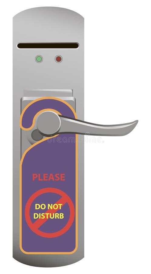 Door handle lock stock illustration