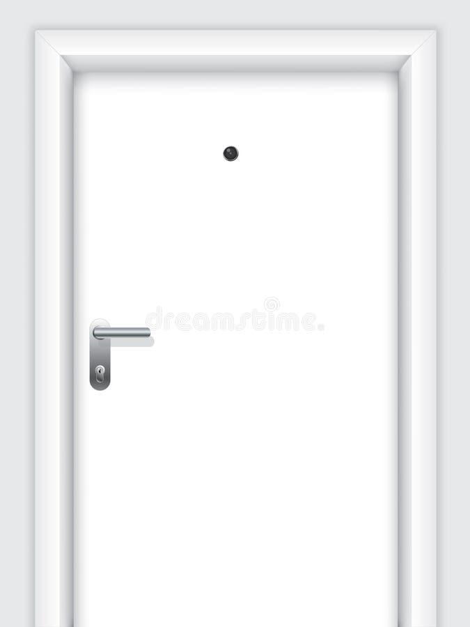 Download Door With Handle, Lock And Viewer Stock Vector - Image: 18885860