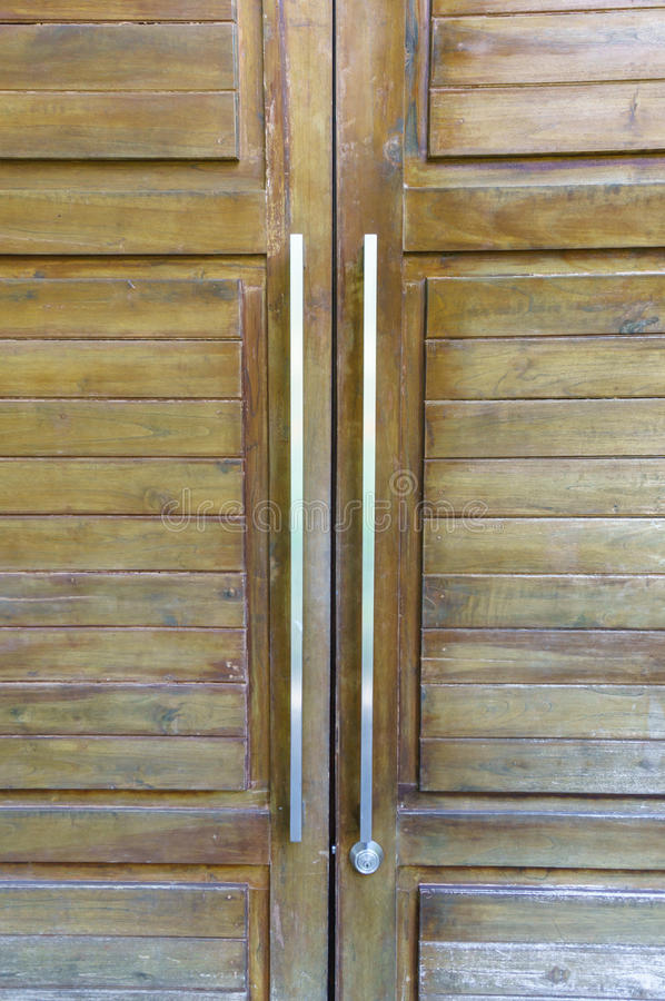 Door Handles With Double Door Stock Photo - Image of closed ...