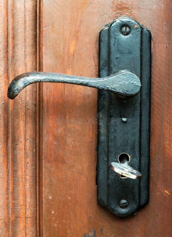 Download Door Handles, Locks And Keys Old Wooden Stock Photo   Image Of  Hand,