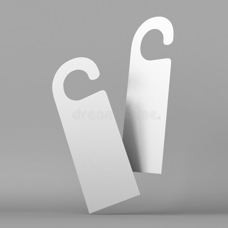 Door Hanger White Tags For Room In Hotel Resort Home Isolated On - Hotel door hanger template