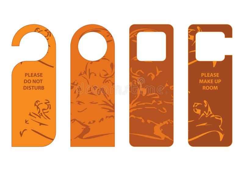 Door hangers  sc 1 st  Dreamstime.com & Door hangers stock vector. Illustration of hotel clean - 26907214