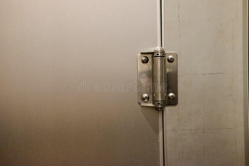 Door hinge. Close up new modern door hinge stock photos