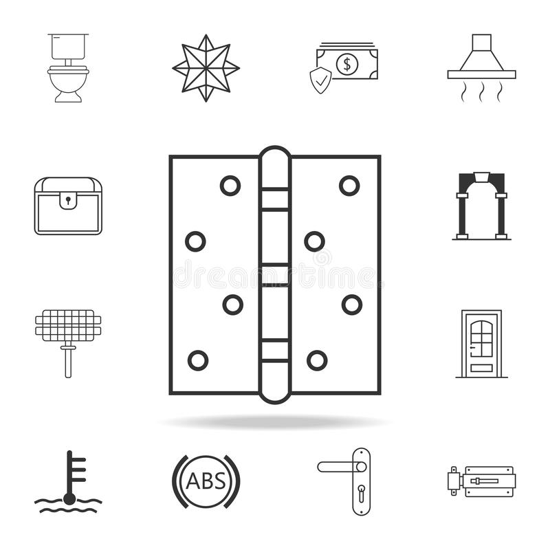 Door hinge icon. Detailed set of web icons and signs. Premium graphic design. One of the collection icons for websites, web design. Mobile app on white vector illustration