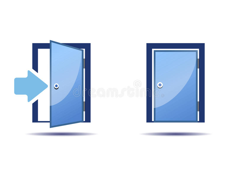 Download The door icon stock vector. Image of icon open background - 44571283  sc 1 st  Dreamstime.com & The door icon stock vector. Image of icon open background - 44571283 pezcame.com