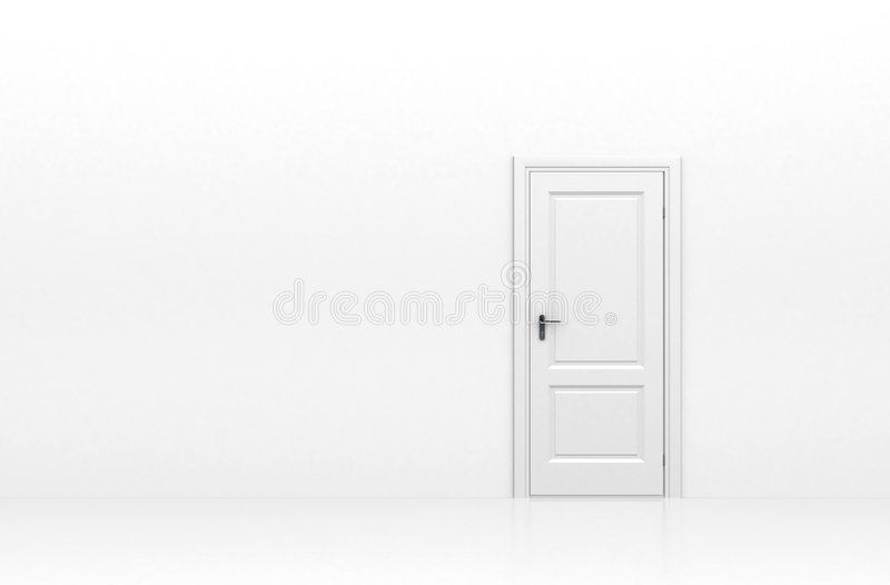 Door isolated on white royalty free stock images