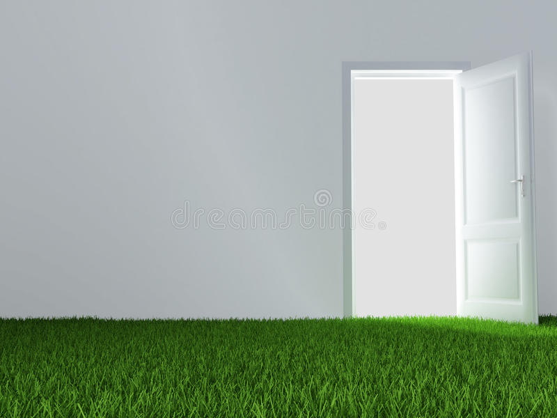 Download Door and juicy green lawn stock illustration. Illustration of building - 12921456