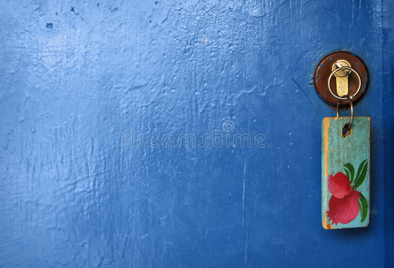 Door and key. stock photography