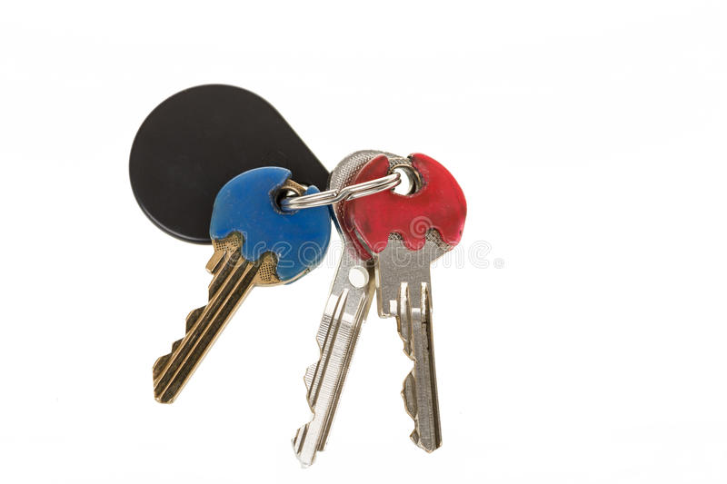 Door Keys On With Color Recognizer Royalty Free Stock Photo