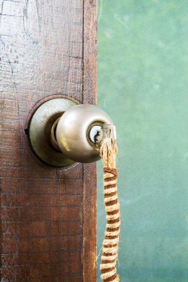 Door keys hanging royalty free stock photos
