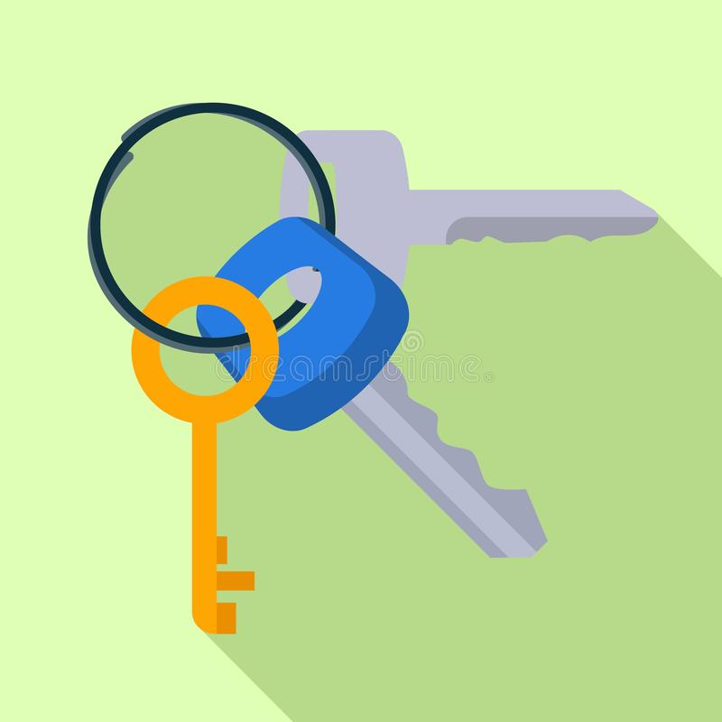Door keys icon, flat style. Door keys icon. Flat illustration of door keys vector icon for web design stock illustration