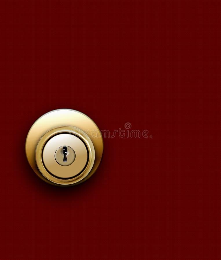 Door knob on red stock illustration. Illustration of wood - 30173384