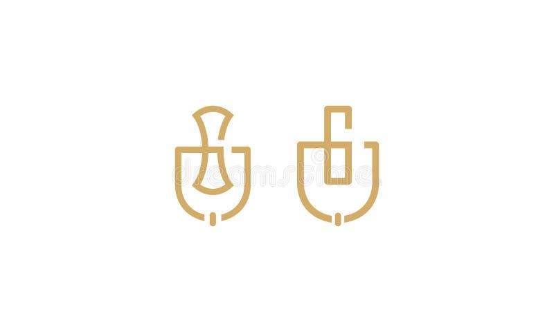 Door knocker home logo icon vector stock illustration