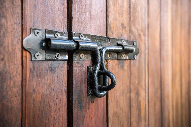 Door latch stock photo