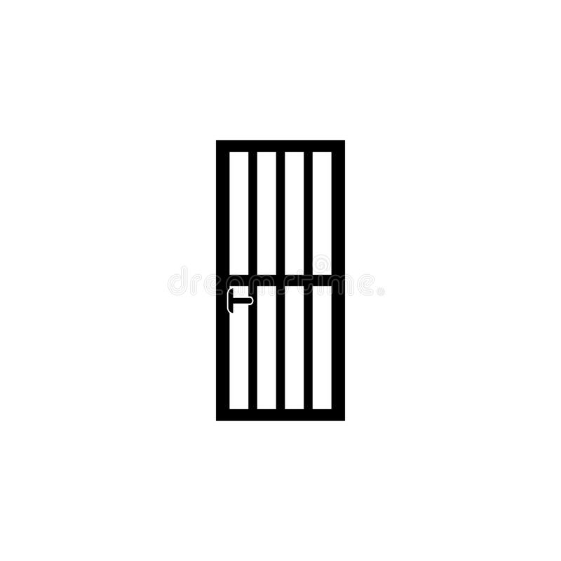 door lattice icon. Element of door elements illustration. Premium quality graphic design icon. Signs and symbols collection icon f royalty free illustration