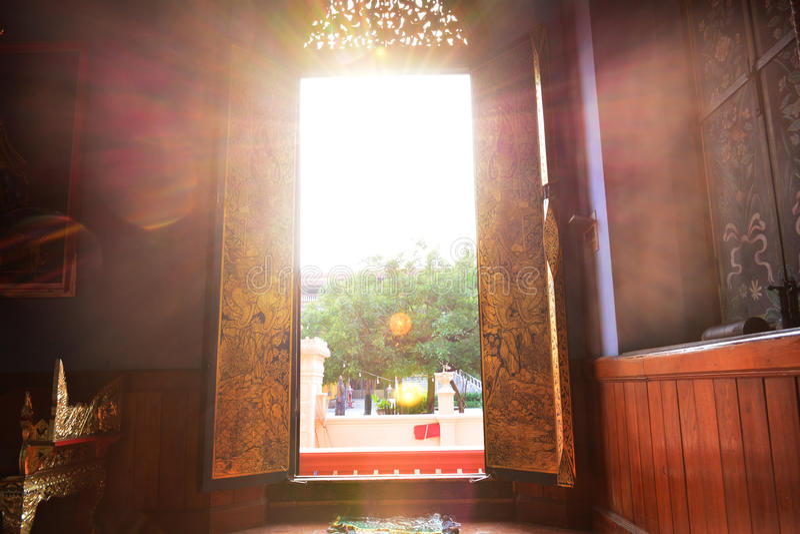 Door_light royalty-vrije stock foto