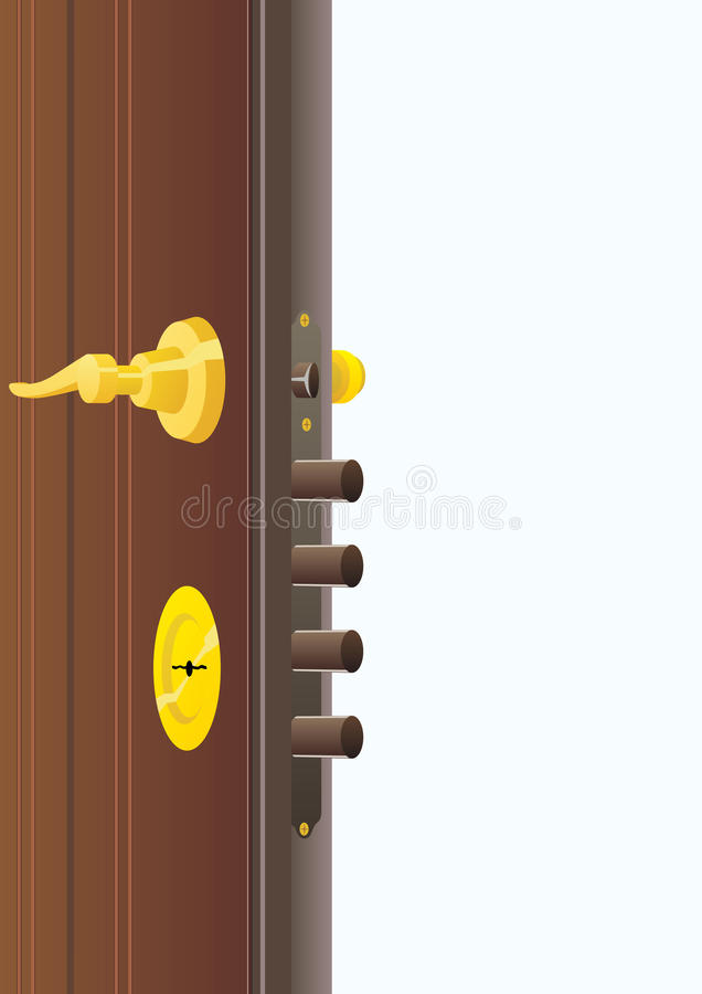 Door lock vector illustration
