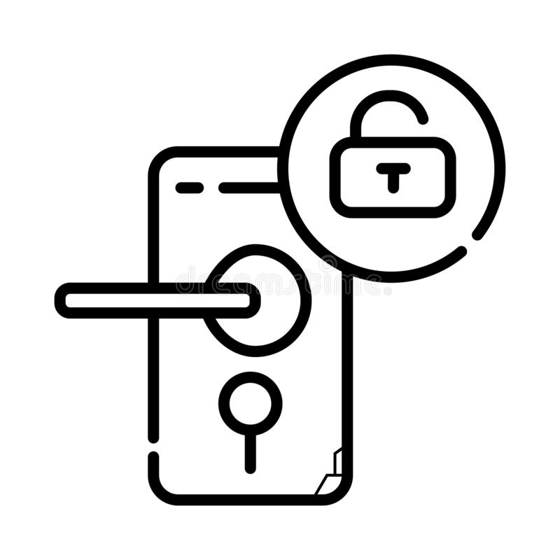 Door lock icon vector illustration