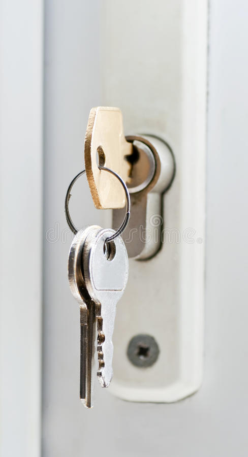 Door Lock And Keys Macro Royalty Free Stock Photography