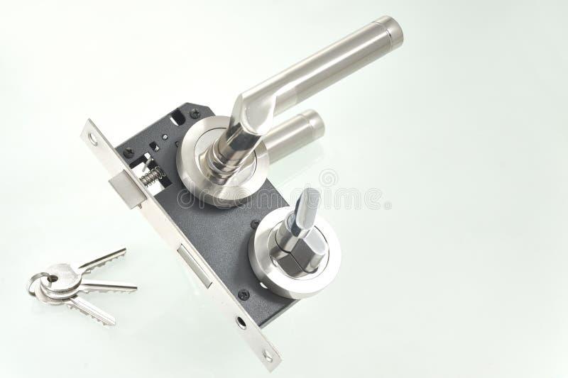 Door lock parts. Shoot in studio royalty free stock image