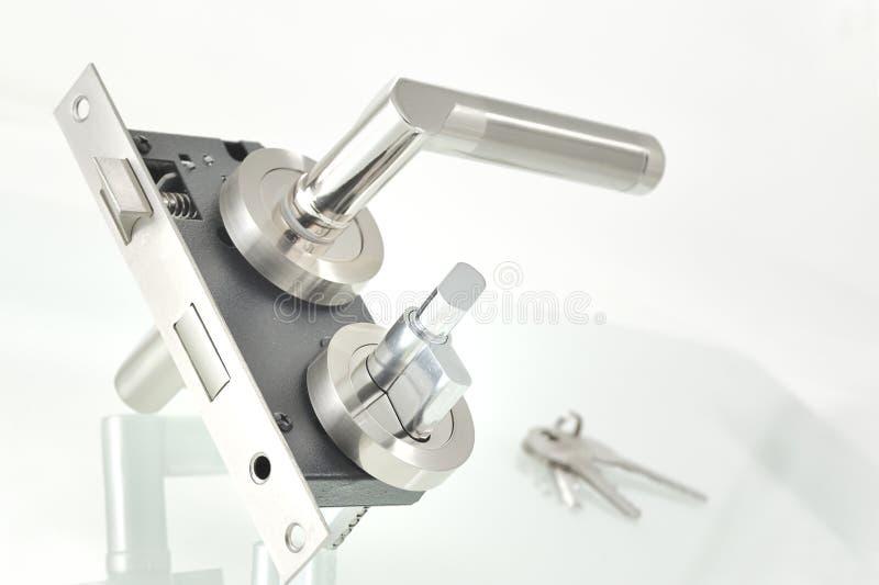 Door lock parts. Shoot in studio stock photos