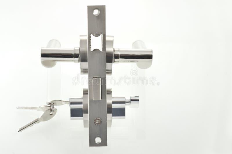 Door lock parts royalty free stock photos
