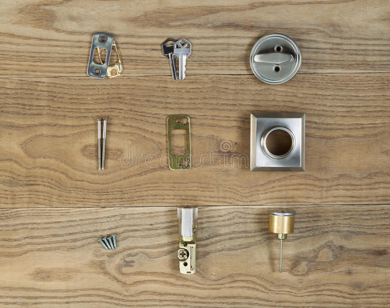 Door Lock parts for Residental Home royalty free stock image