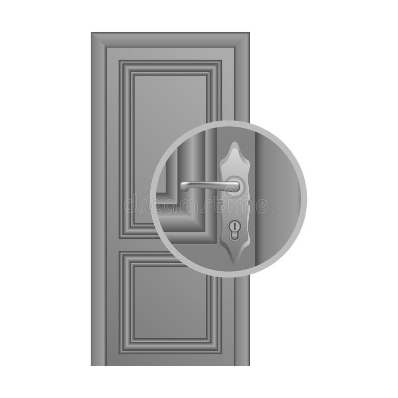 Door lock replacement stock illustration