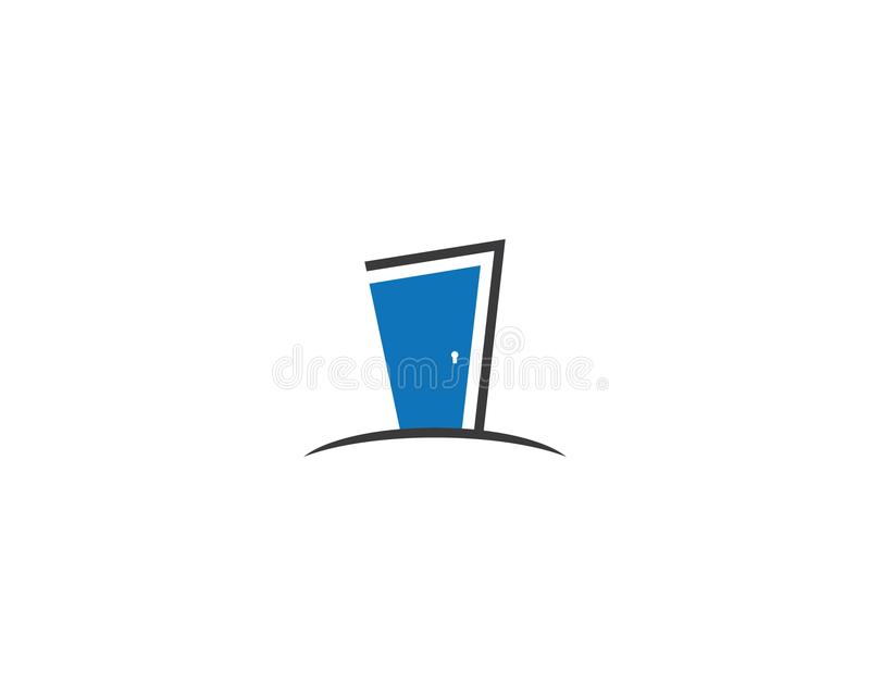 Door logo template vector illustration