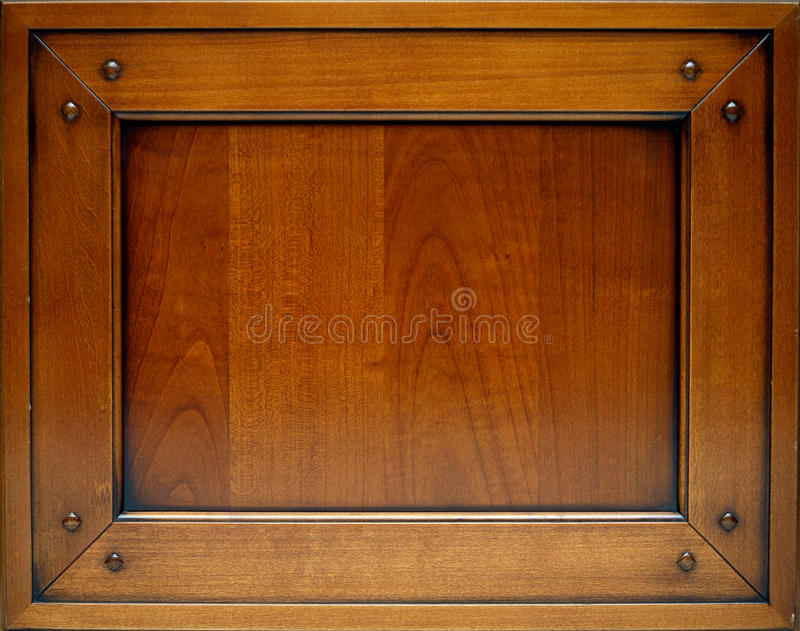 Door made out of chestnut wood stock photography