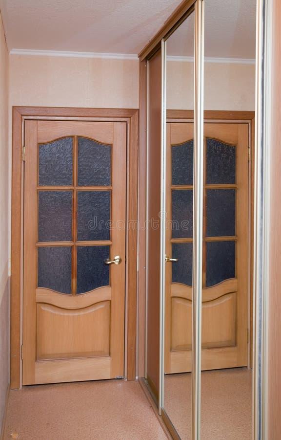 Door and mirror royalty free stock image