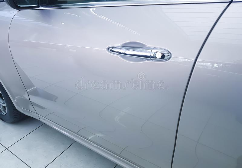 Door new car sheen, panel, exhibition, side, business. Door new car sheen panel exhibition, side, business royalty free stock photo