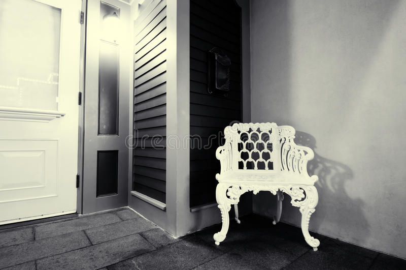 The door at night stock photography