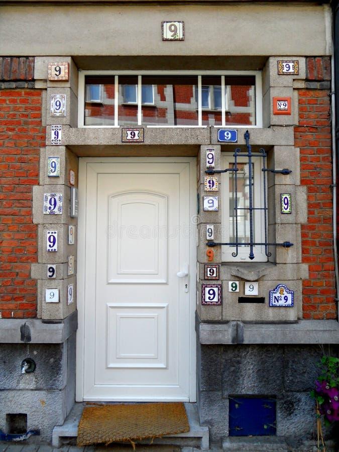 Door nine in Brussels stock photo