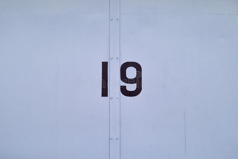 Door Number 19 royalty free stock photography